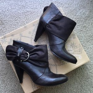 Miss Sixty Leather Booties SZ 40